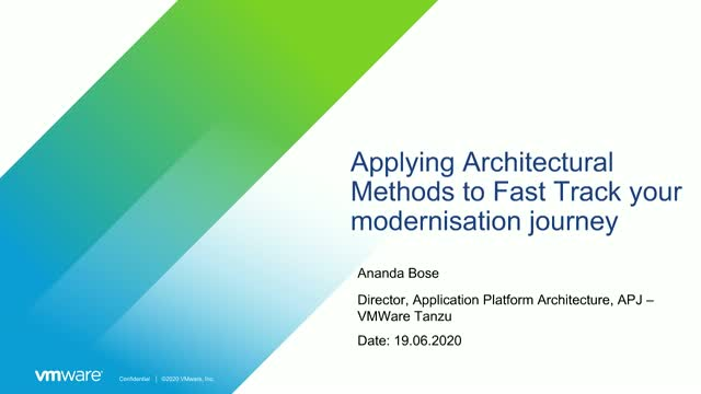 [Tanzu Talks] Applying Architectural Methods for Application Modernisation