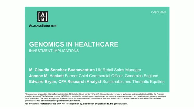 Introducing Genomics in Healthcare and AB's Insight into the Sector