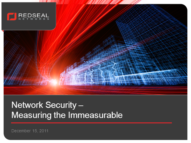 Network Security – Measuring the Immeasurable