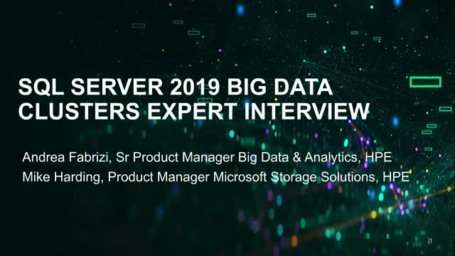 Microsoft SQL Server 2019 Big Data Clusters Expert Interview