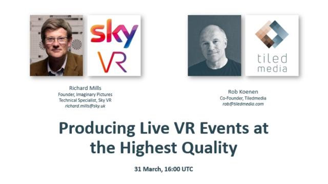 Producing Live VR Events at the Highest Quality