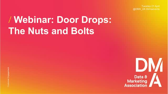 Webinar: Door Drops: The Nuts and Bolts