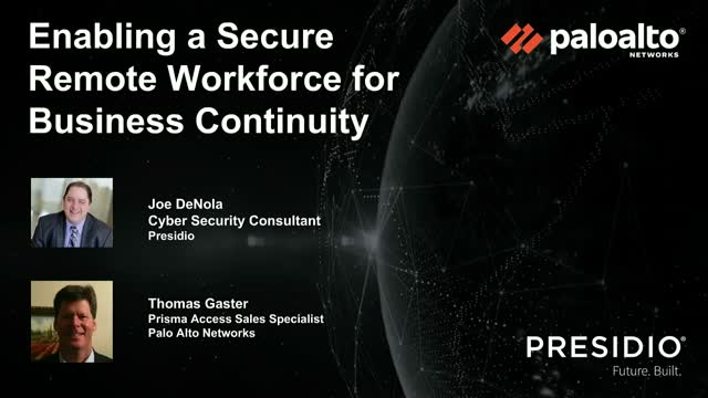 Enabling a Secure Remote Workforce For Business Continuity