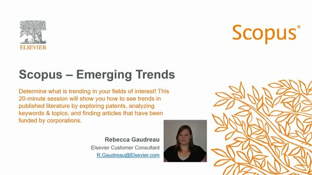 Scopus – Emerging Trends