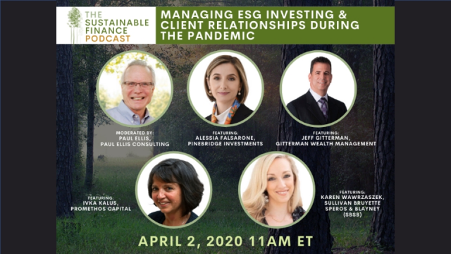 Managing ESG Investing and Client Relationships during the Pandemic