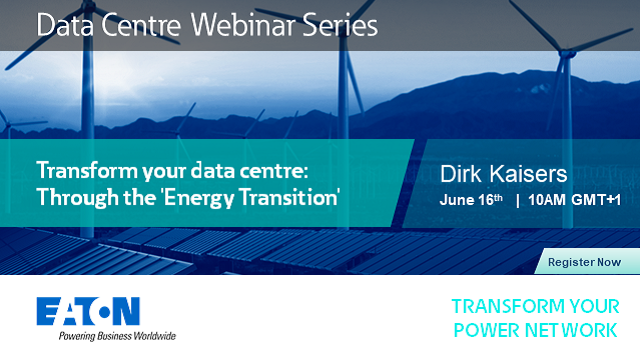 Transform your data centre: Through the 'Energy Transition'