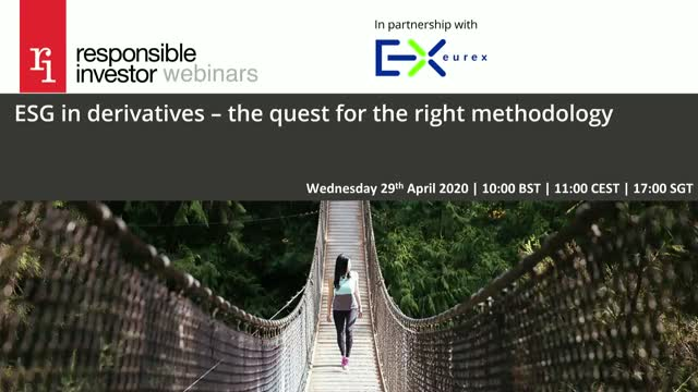 ESG in derivatives – the quest for the right methodology