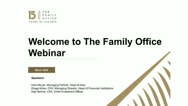 The Family Office's Market Outlook and Perspective