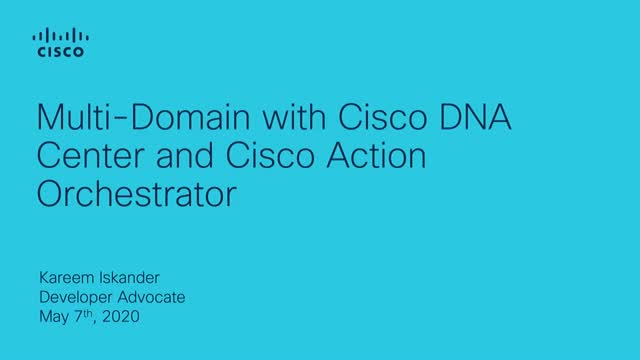 Implementing Cisco DNA Center with Cisco Action Orchestrator