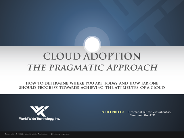 Cloud Adoption - The Pragmatic Approach