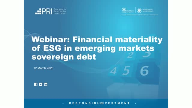 Financial materiality of ESG in emerging markets sovereign debt