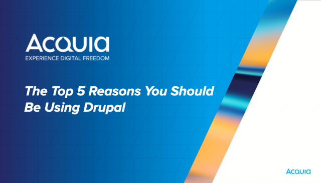 Top 5 Reasons You Should be Using Drupal as Your CMS