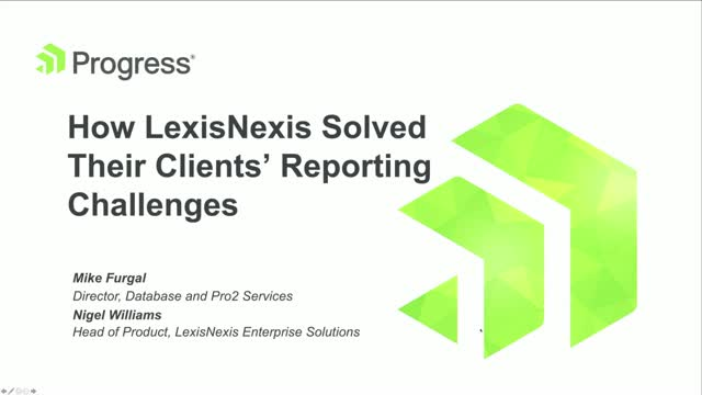 How LexisNexis Solved Their Clients' Reporting Challenges