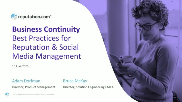 Best Practices for Reputation and Social Media Management During COVID-19