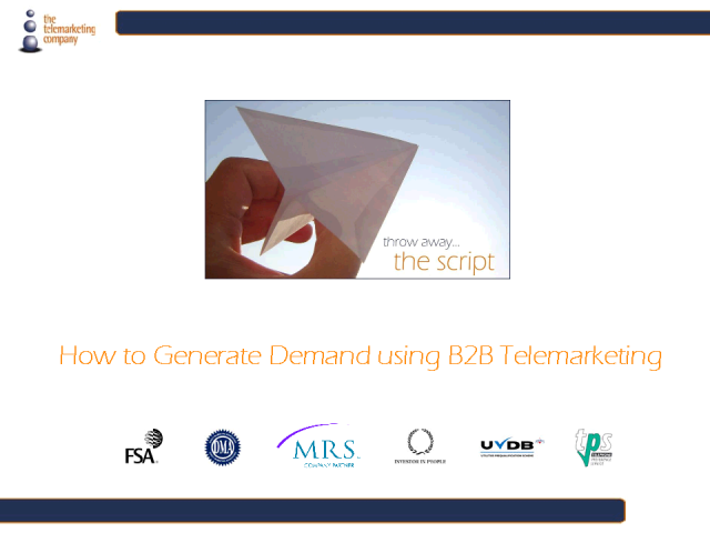 How to generate demand using B2B telemarketing