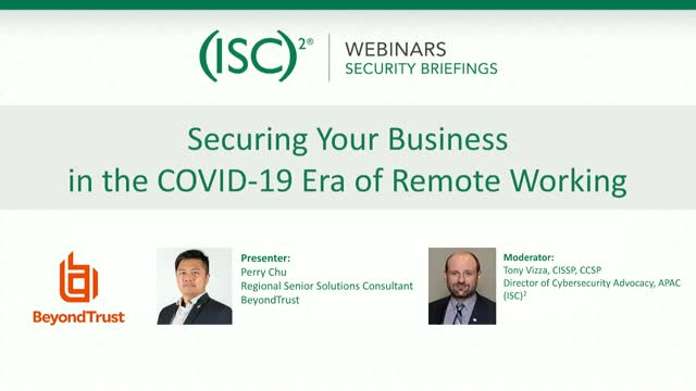 Securing Your Business in the COVID-19 Era of Remote Working