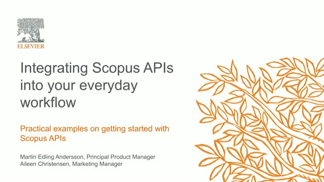 Integrating Scopus APIs into your everyday workflow