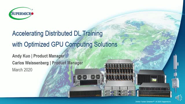 Accelerating Distributed DL Training with Optimized GPU Computing Solution
