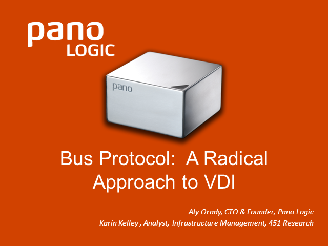 Bus Protocol: A Radical Approach to VDI