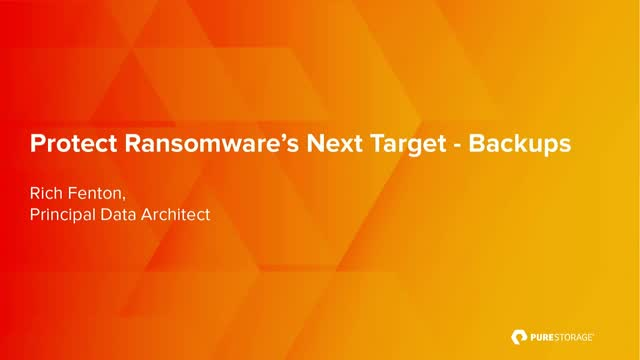 Protect Ransomware's Next Target - Backups