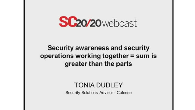 Security Awareness and Security Operations Working Together