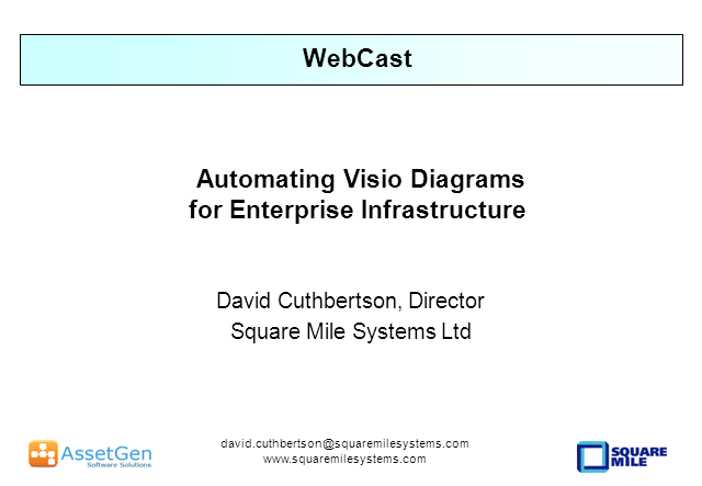 Automating Visio Diagrams For Enterprise Infrastructures