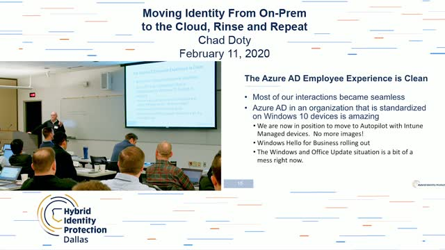 Moving Identity From On-Prem to the Cloud, Rinse and Repeat