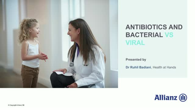 Antibiotics and bacterial Vs. viral
