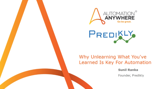 Why Unlearning What You've Learned Is Key For Automation