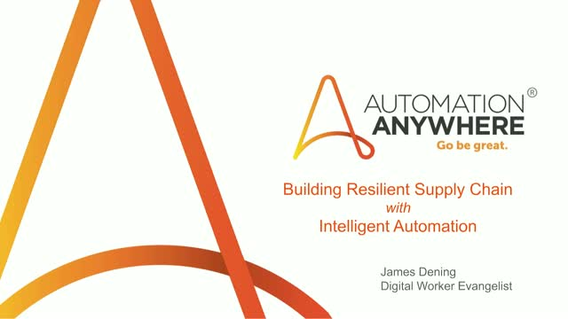 AUTOMATE TO BUILD RESILIENCY IN MANUFACTURING SUPPLY CHAIN