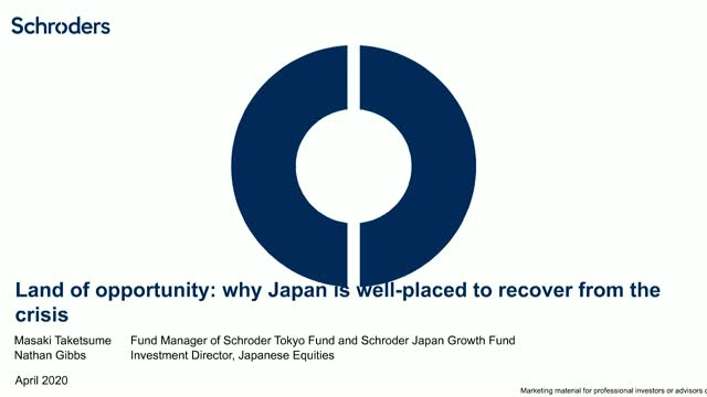 Land of opportunity: why Japan is well-placed to recover from the crisis