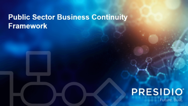 Public Sector Business Continuity Framework