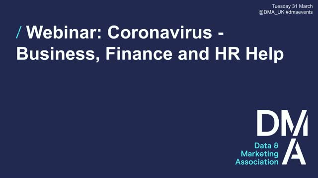 Webinar: Coronavirus - Business, Finance and HR Help