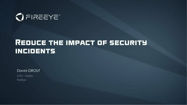 Breach Response Series - Part 3: Reduce the impact of security incidents