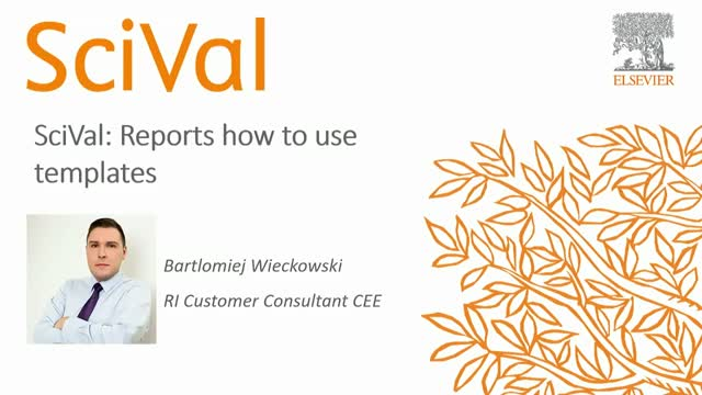 SciVal: Reports - how to use templates