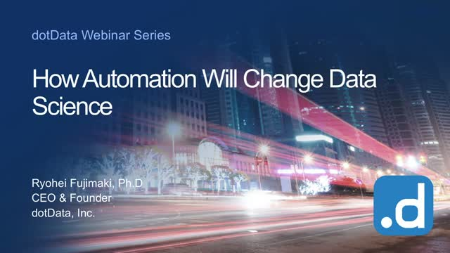 Webinar: How Will Automation Change Data Science?