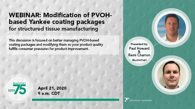 Modification of PVOH-based Yankee coating packages for structured tissue