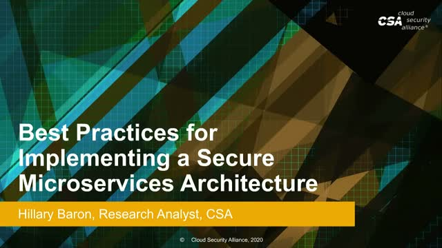 Best Practices for Secure Microservices Architecture