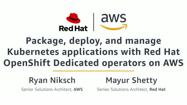 Package, deploy and manage Kubernetes applications with Red Hat OpenShift Dedica