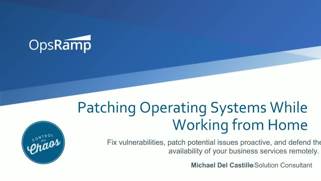 Patching Operating Systems While Working from Home