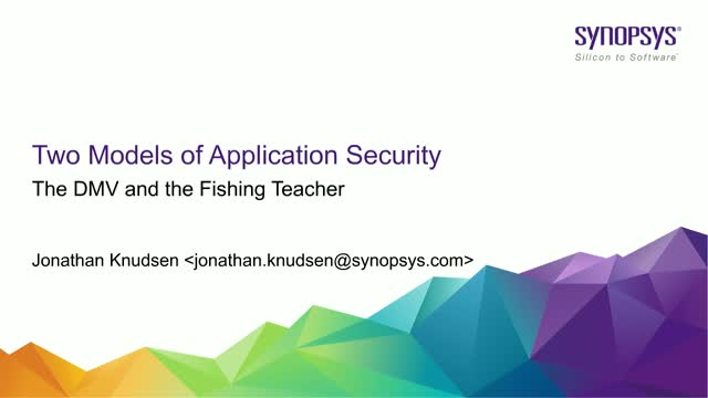 Two Models of Application Security: The DMV and the Fishing Teacher