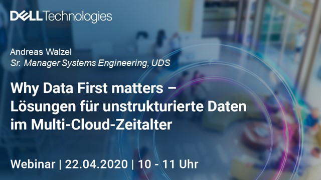 Why Data First matters - Lösungen für Unstructured Data im Multi-Cloud-Zeitalter