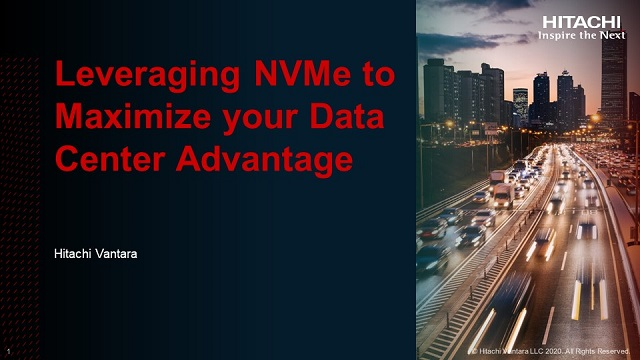 Leveraging NVMe to Maximize your Data Center Advantage