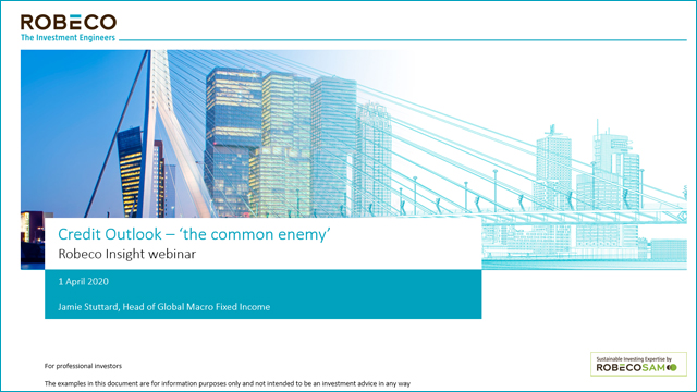 Credit outlook: 'The common enemy' - Robeco Insights