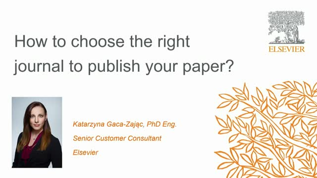 How to choose the right journal to publish your paper?