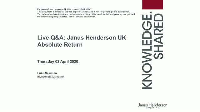 Live Q&A: Janus Henderson UK Absolute Return