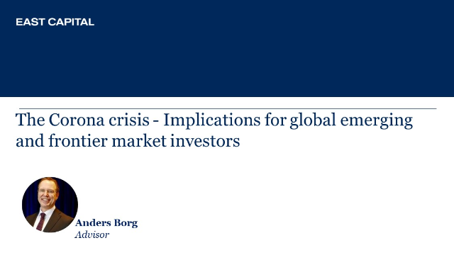 The Corona crisis – Implications for global emerging and frontier markets
