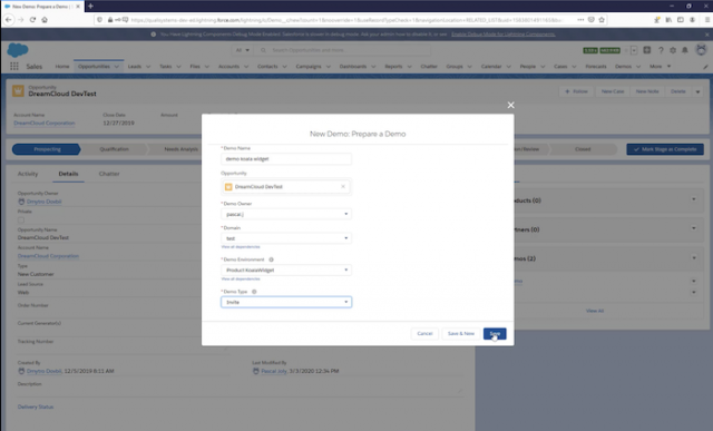 Manage On-demand Demo Environments from Salesforce