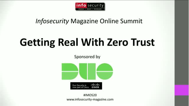 #IMOS20 Building Zero Trust Security Solutions