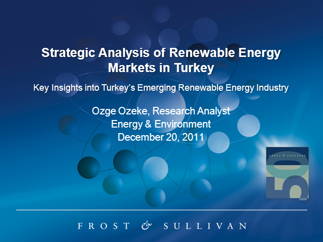 Strategic Analysis of Renewable Energy Markets in Turkey